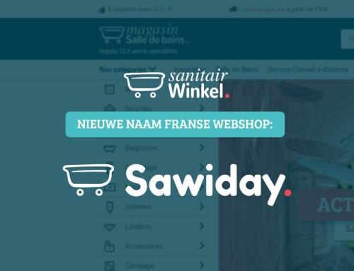 Sanitairwinkel wijzigt haar Franse naam in Sawiday